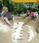 Ausgrabungen im Saurierpark Bautzen